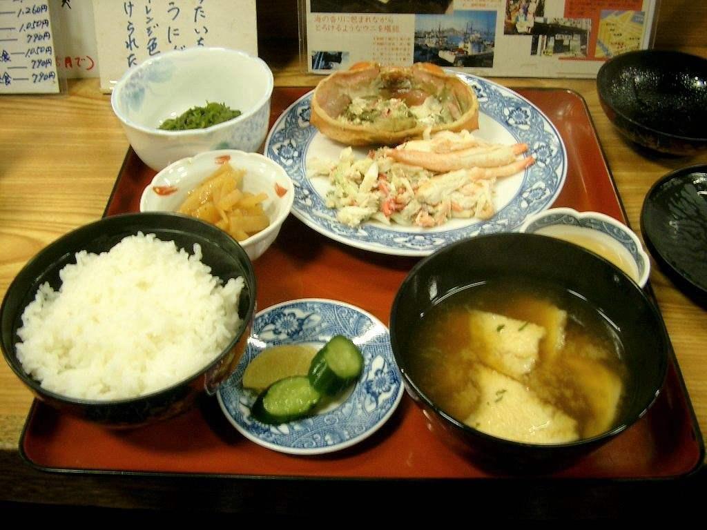 八戸、陸奥湊『大洋食堂』「カニ定食」