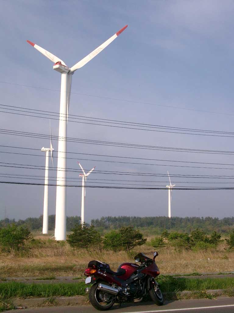 青森、風車